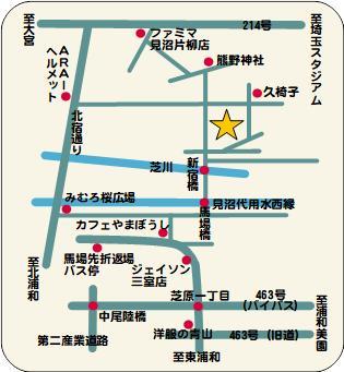瀰瓊際(みぬま)菜園クラブアクセスマップ